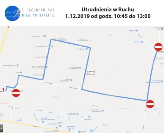 1 grudnia utrudnienia w ruchu w Radomsku