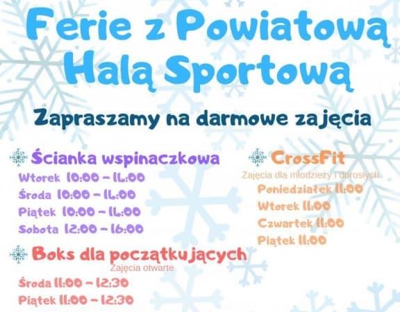 Aktywne ferie w Powiatowej Hali Sportowej w Radomsku