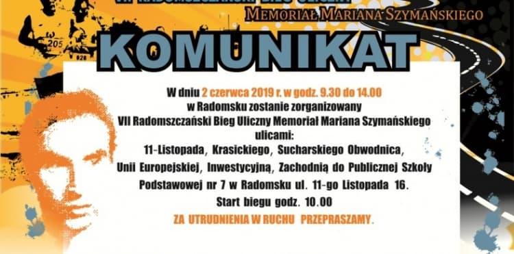 Biegowy memoriał im. Szymańskiego. Utrudnienia w ruchu