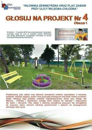 Budżet Obywatelski: siłownia i plac zabaw przy ul. Wilsona-Chłodna