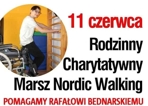 Charytatywny nordic walking dla Rafała Bednarskiego