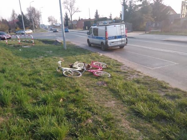 Dwie 12-letnie rowerzystki potrącone przez samochód