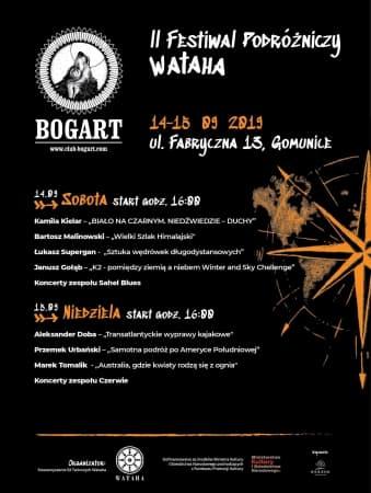 Festiwal Podróżniczy Wataha 2019 w klubie Bogart