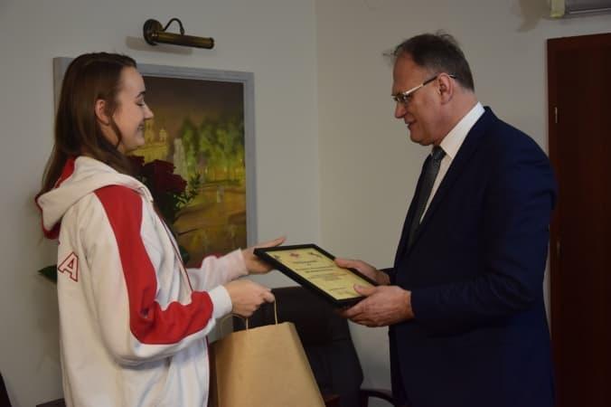 Gratulacje od prezydenta Radomska dla Weroniki Mazur