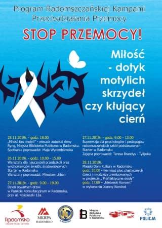 """Kampania przeciw przemocy w Radomsku: """"Miłość - dotyk motylich skrzydeł czy kłujący cierń"""""""