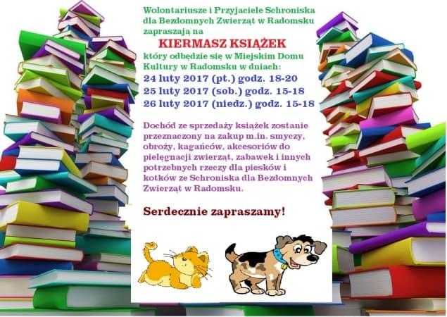 Kiermasz książek dla radomszczańskiego schroniska