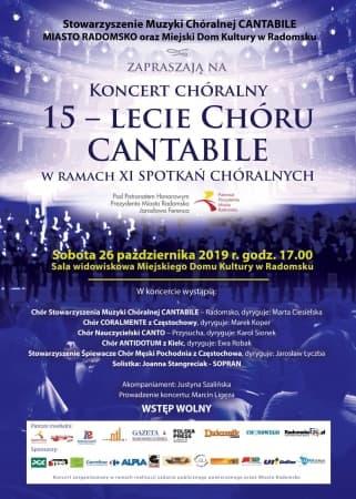 Koncert chóralny 15-lecie Chóru Cantabile