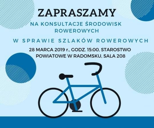 Konsultacje dla rowerzystów. W sprawie ścieżek w powiecie