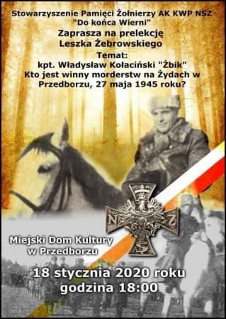 Kto wymordował Żydów w Przedborzu w 1945 roku. Prelekcja Leszka Żebrowskiego