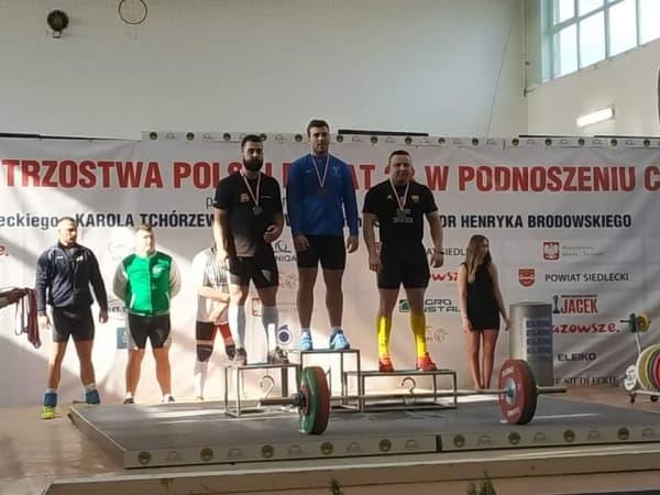 Łukasz Centkowski mistrzem Polski w podnoszeniu ciężarów
