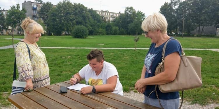 Magdalena Spólnicka zbiera podpisy