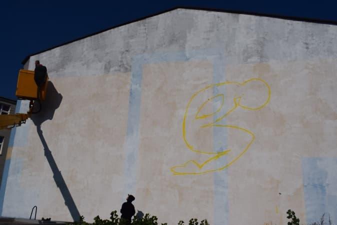 Na Bugaju powstaje mural