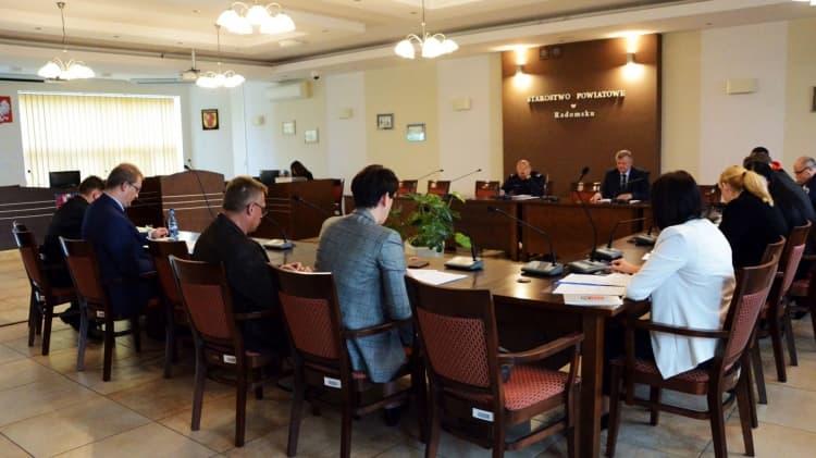 O bezpieczeństwie powiatu na posiedzeniu komisji