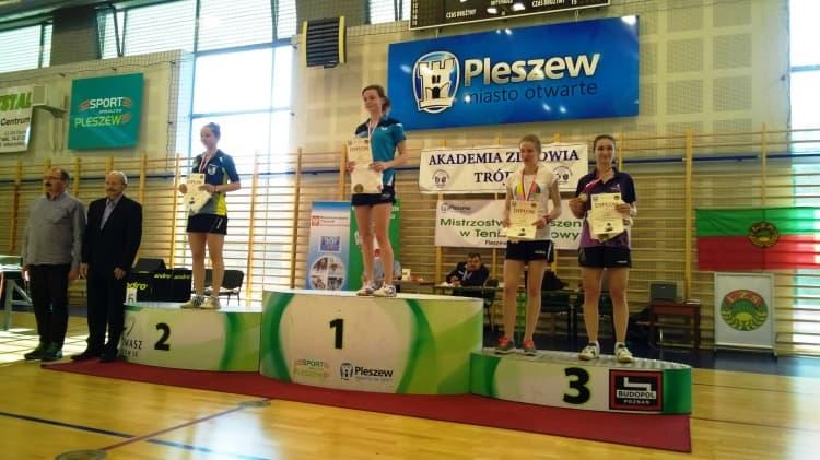 Ola Niemiec brązową medalistką Mistrzostw Polski LZS w tenisie stołowym