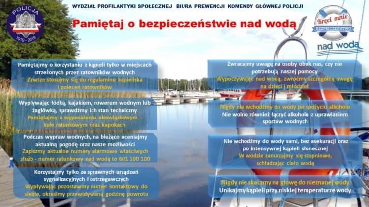 Policja apeluje - Pamiętaj o bezpieczeństwie nad wodą!