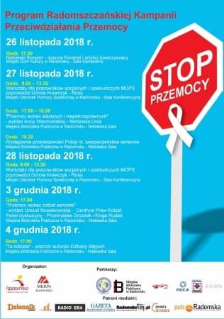 Przed nami Radomszczańska Kampania Przeciwdziałania Przemocy