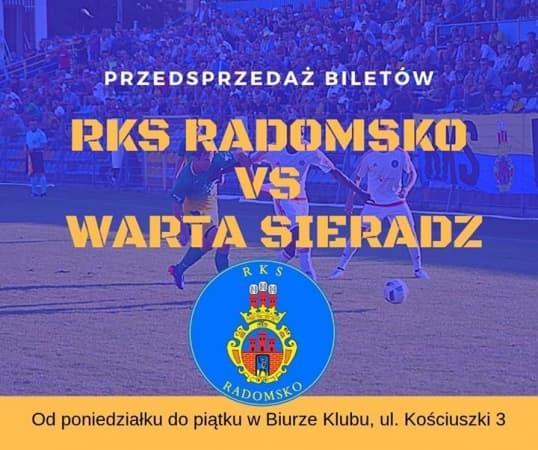 Przedsprzedaż biletów na mecz RKS – Warta Sieradz