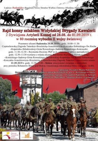 Rajd konny szlakami walk Wołyńskiej Brygady Kawalerii