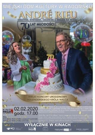 """Retransmisja koncertu urodzinowego """"André Rieu czyli 70 lat młodości"""""""