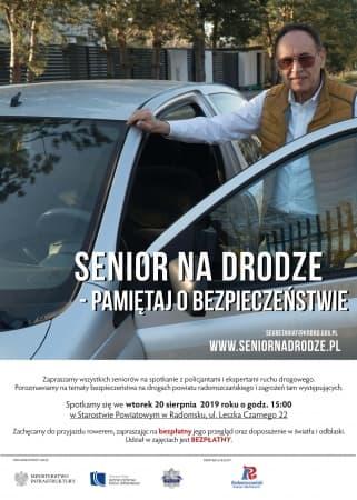 Senior bezpieczny na drodze. Spotkanie informacyjne w starostwie
