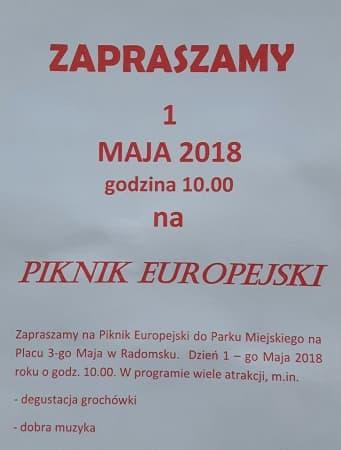 SLD zaprasza na Piknik Europejski