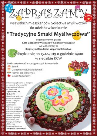 Tradycyjne Smaki Myśliwczowa. Konkurs dla mieszkańców sołectwa