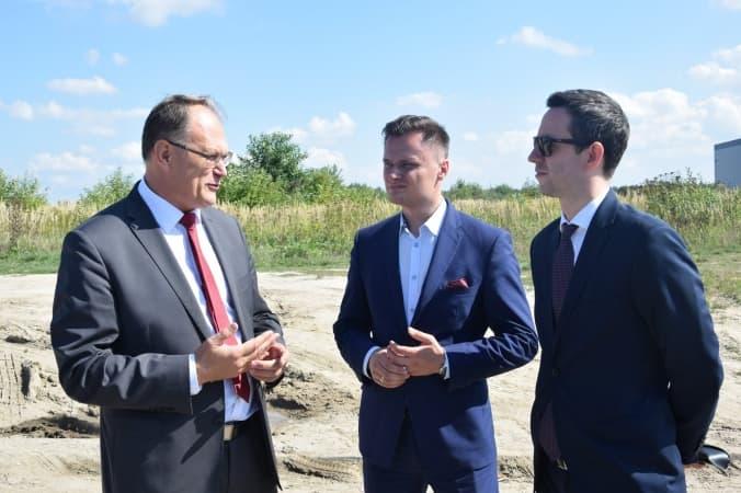 Wiceminister odwiedził strefę przemysłową w Radomsku