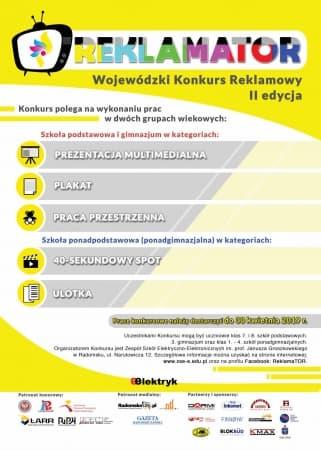 """Wojewódzki Konkurs Reklamowy """"Reklamator"""""""