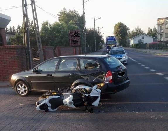 Wypadek z udziałem motocyklisty na ul. Narutowicza