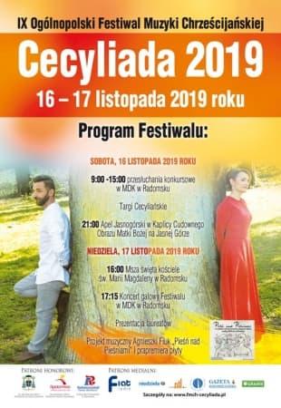 """XI Ogólnopolski Festiwal Muzyki Chrześcijańskiej """"Cecyliada"""" w Radomsku"""