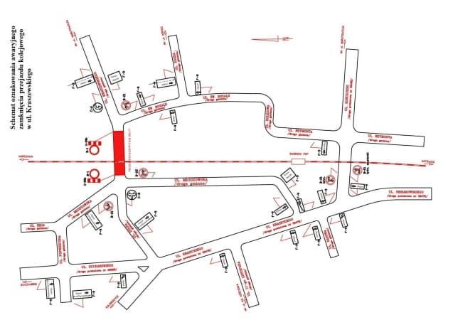 Zamknięty przejazd na ul. Kraszewskiego