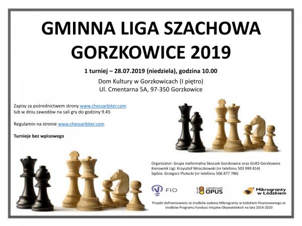 Zaproszenie na Gminną Ligę Szachową w Gorzkowicach