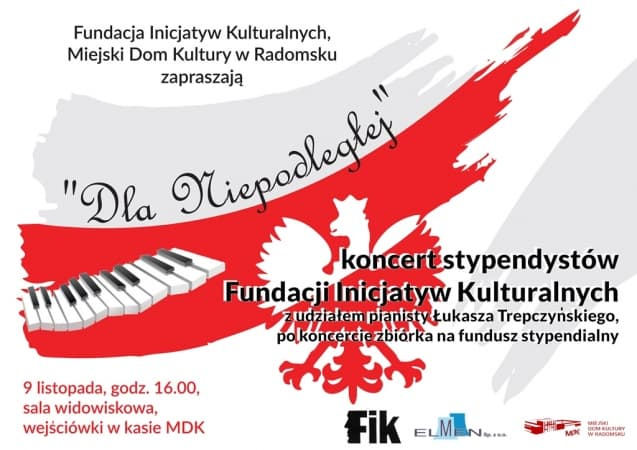 Zaproszenie na koncert stypendystów Fundacji Inicjatyw Kulturalnych