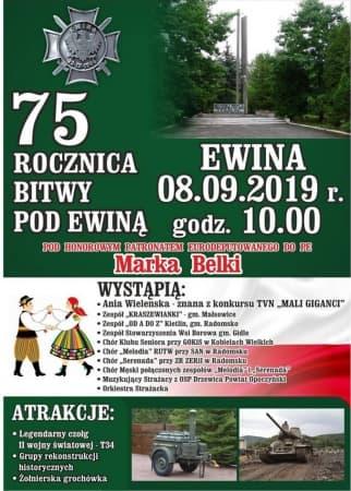 Zaproszenie na obchody 75. rocznicy Bitwy pod Ewiną