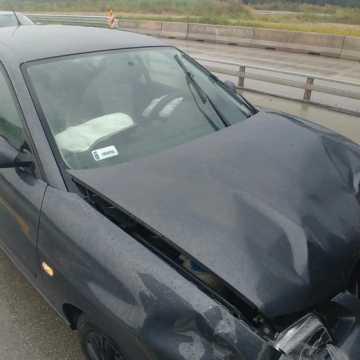 Trzy samochody zderzyły się na DK1 niedaleko Kamieńska