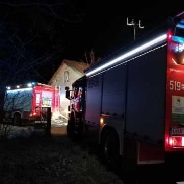 Pożar w domu w Janowie w gm. Dobryszyce
