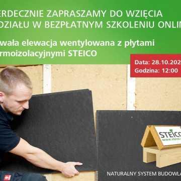 Trwała, bezpieczna elewacja wentylowana. Bezpłatne szkolenie od firmy Steico