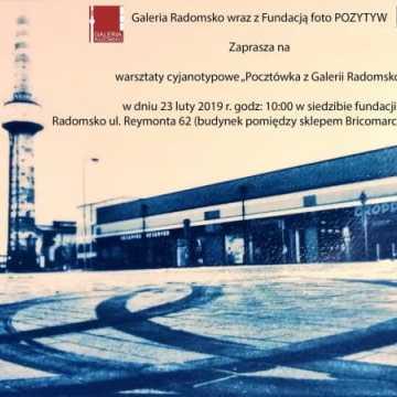 Zaproszenie na warsztaty cyjanotypowe do Galerii Radomsko