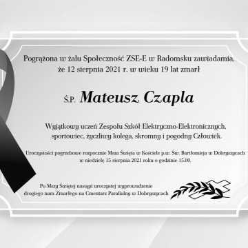 Ostatnie pożegnanie Mateusza Czapli