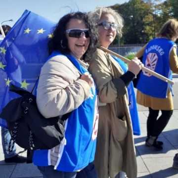 Pedagodzy z Radomska na demonstracji w stolicy