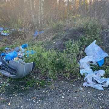 Ktoś celowo zaśmieca działkę w Radomsku. Jej właścicielom zabrakło cierpliwości. Mają dane sprawcy!