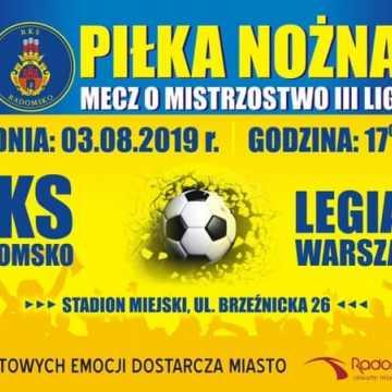 RKS Radomsko zmierzy się z Legią II Warszawa