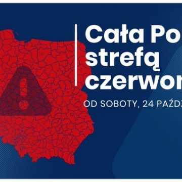 Cała Polska już od jutra w czerwonej strefie