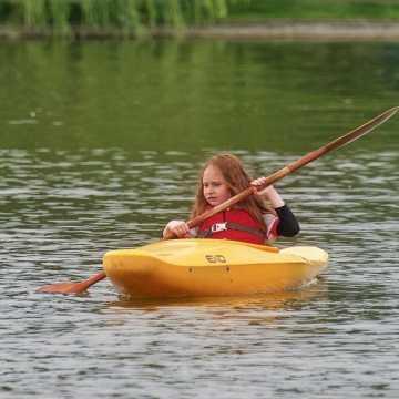 Nauka pływania na kajaku z WOPR Radomsko