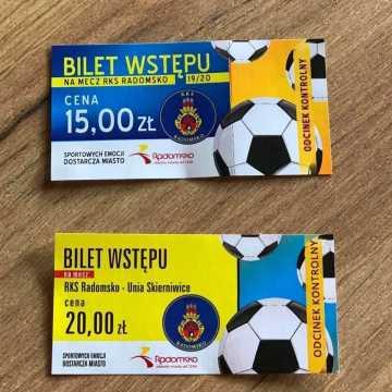 Bilety na pucharowy mecz RKS Radomsko – Unia Skierniewice wciąż dostępne