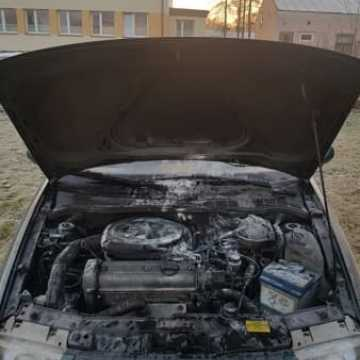 Pożar samochodu w Przedborzu