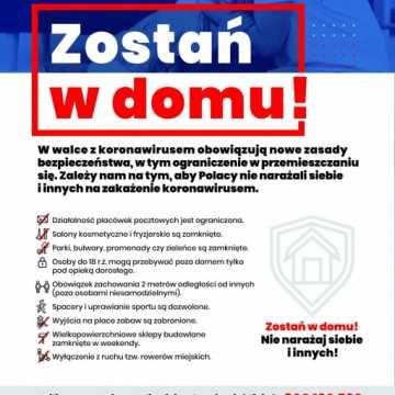 Apel o powielanie plakatów o koronawirusie