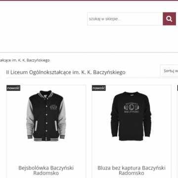 Bluzy z logo II LO można już zakupić w sieci