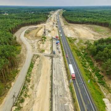 Postęp prac przy budowie autostrady A1