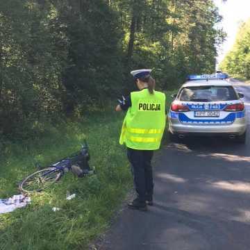 Rowerzysta został potrącony przez busa